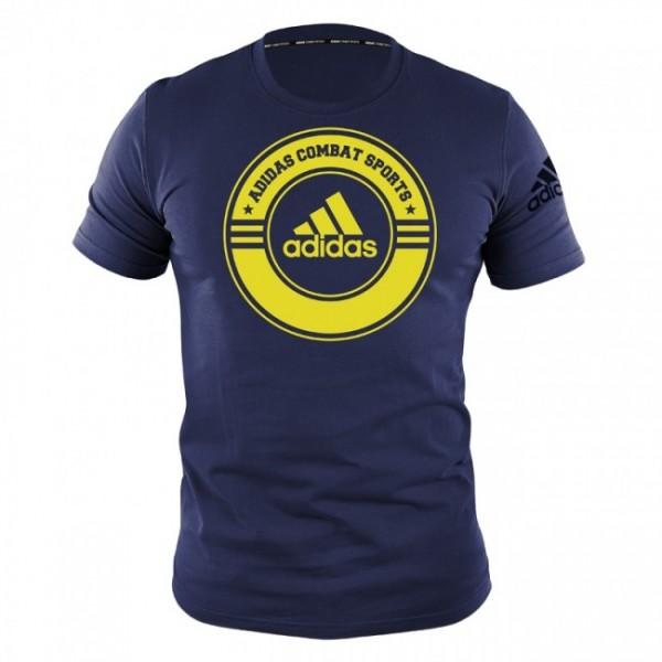 T-Shirt Combat Sports Blau/Gelb