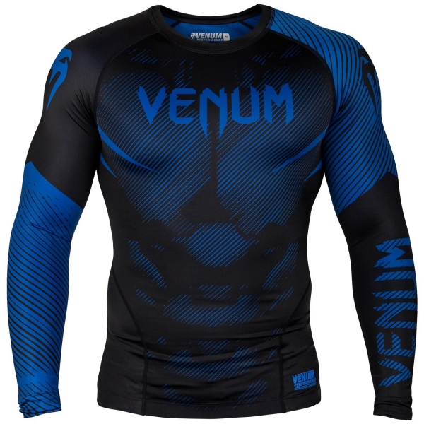Venum NoGi 2.0 Rashguard - Langarm - Schwarz/Blau