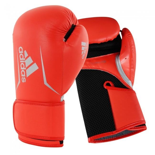 Adidas Boxhandschuhe Speed 100 Frauen Rot/Schwarz/Silber