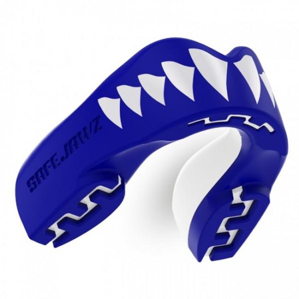 Safejawz Mundschutz Extro-Serie Shark Blau/Weiß Junior