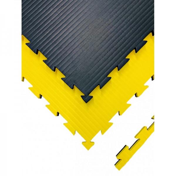 Puzzelmatte 100 x 100 x 2,5/4 cm Schwarz/Gelb