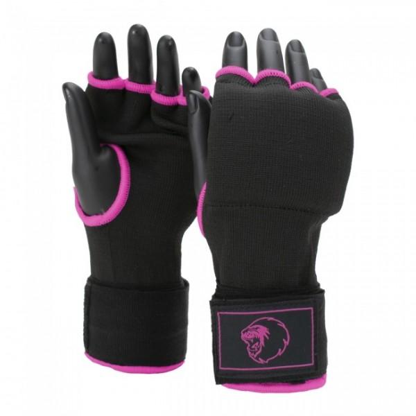Super Pro Combat Gear Innenhandschuhe mit Bandage Schwarz/Pink