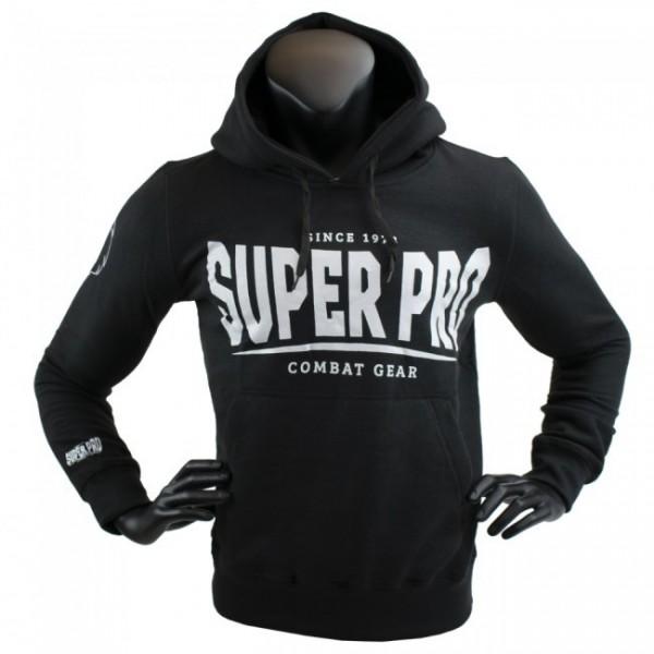 Super Pro Hoodie S.P. Logo Schwarz/Weiß