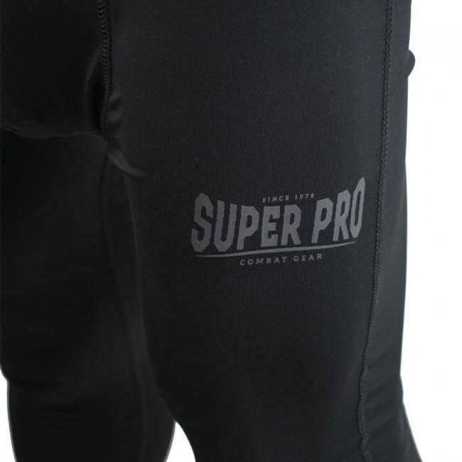 Super Pro Leggings Men Lion/Super Pro Logo Schwarz/Grau