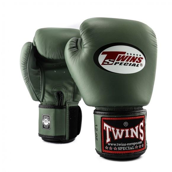 Twins Boxhandschuhe BGVL 3 Leder Militär