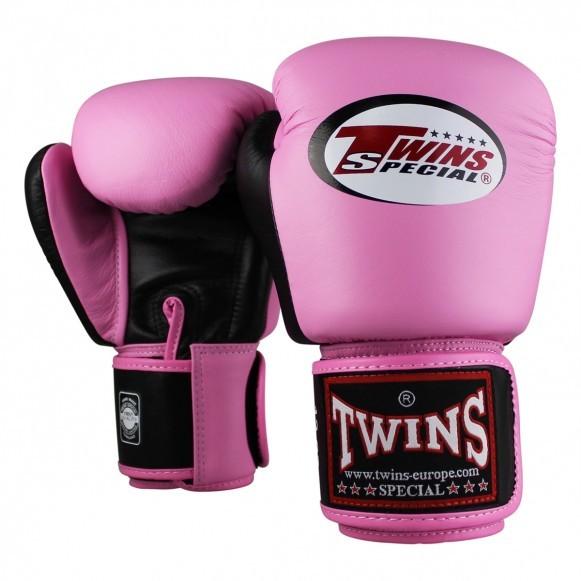 Twins Boxhandschuhe BGVL 3 Leder Pink Schwarz