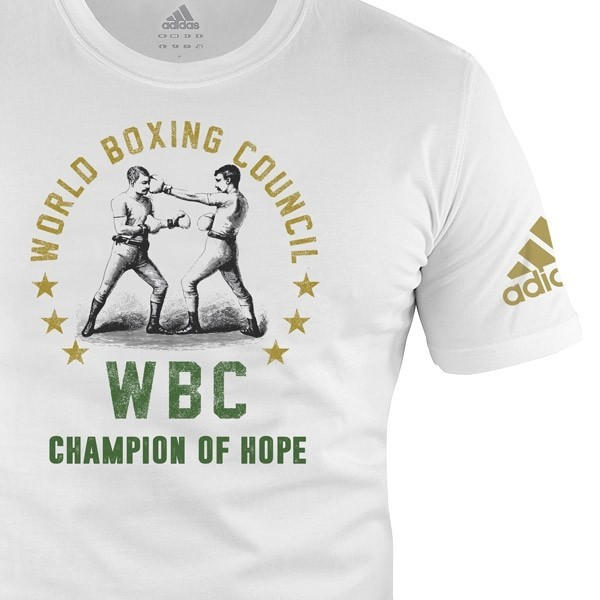 Adidas WBC T-Shirt Champ of Hope-Weiß