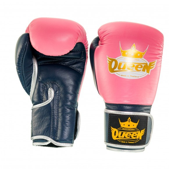 Queen Pro 3 Damen Boxhandschuhe Pink Blau