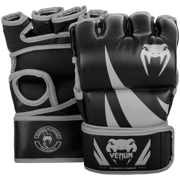 Venum Challenger MMA Handschuhe - Ohne Daumen - Schwarz/Grau