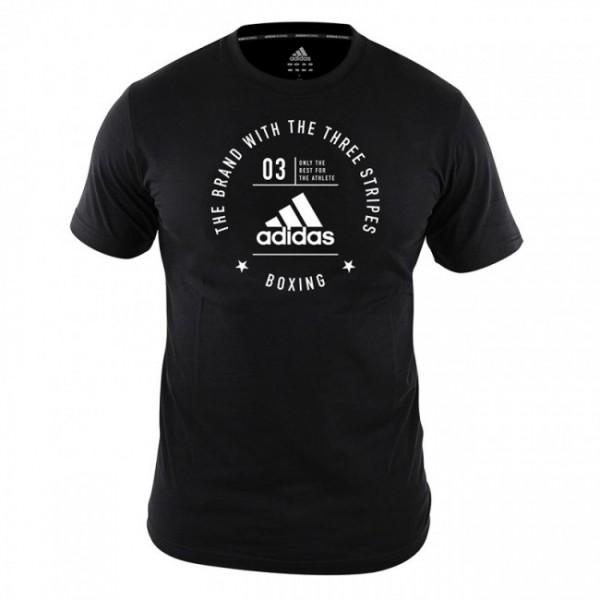 Adidas Community T-Shirt Boxing Schwarz/Weiß