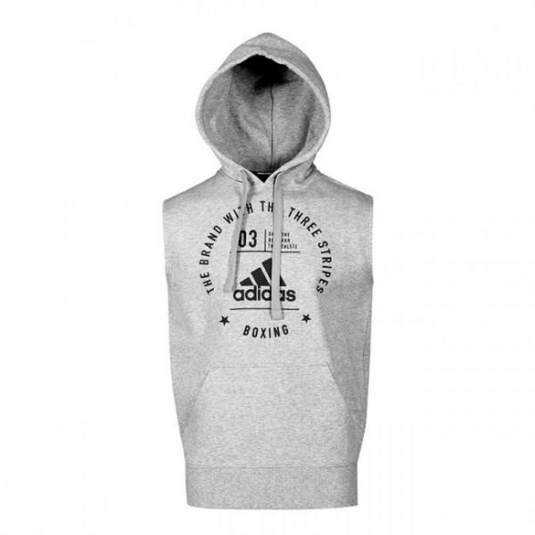 "Adidas Community Sleeveless Hoodie ""BOXING"" Grau/Schwarz"