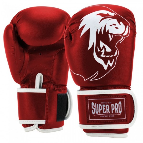 Super Pro Combat Gear Talent (Kick-)Boxhandschuhe Rot/Weiß