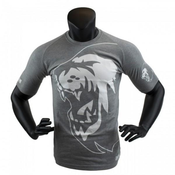 Super Pro T-Shirt Lion Logo Grau/Weiß