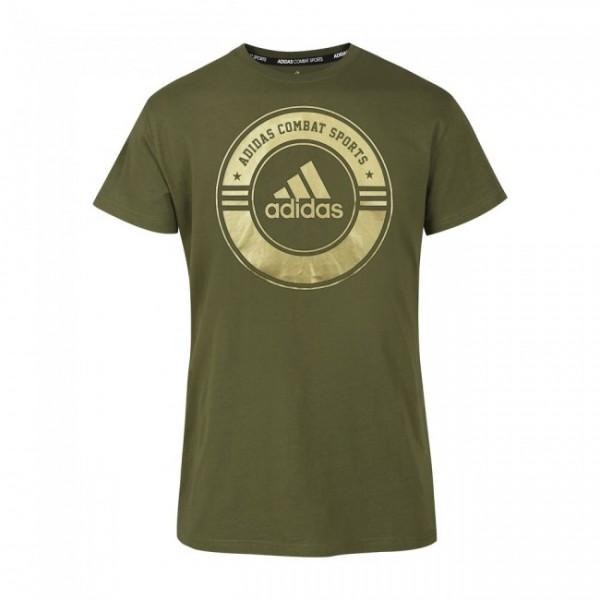 Adidas T-Shirt Combat Sports Grün/Gold