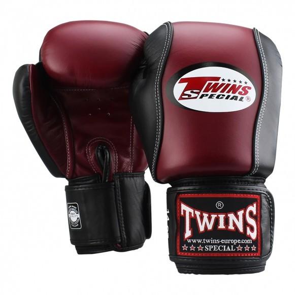 Twins BGVL 7 Boxhandschuhe Weinrot Schwarz