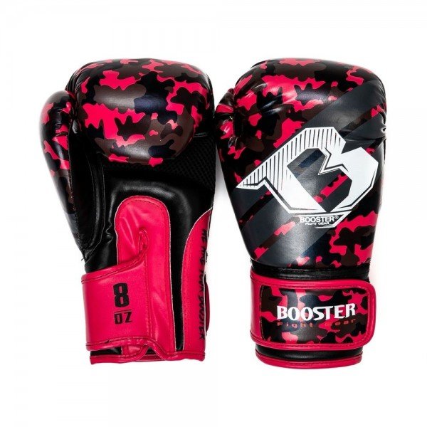 Booster Boxhandschuhe BG YOUTH CAMO PINK