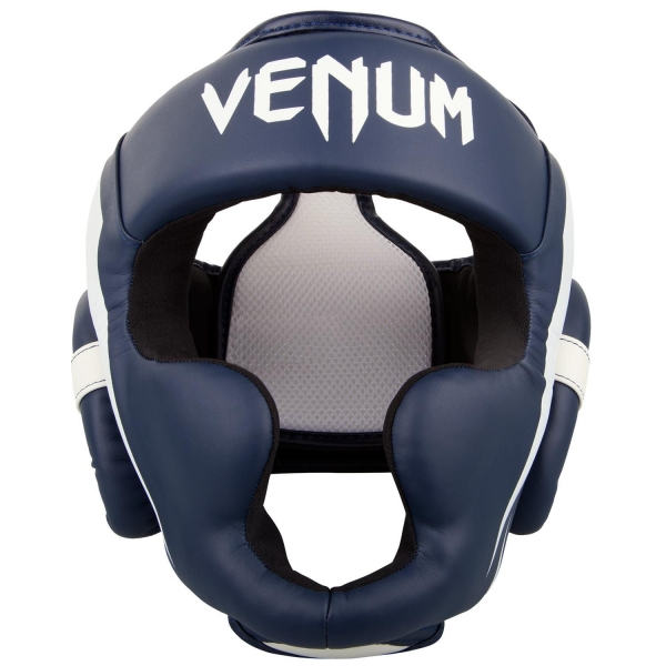Venum Elite Kopfschutz-Weiß/Marineblau