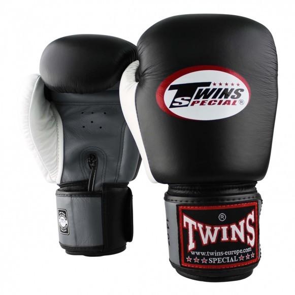 Twins BGVL 4 Boxhandschuhe Schwarz Grau