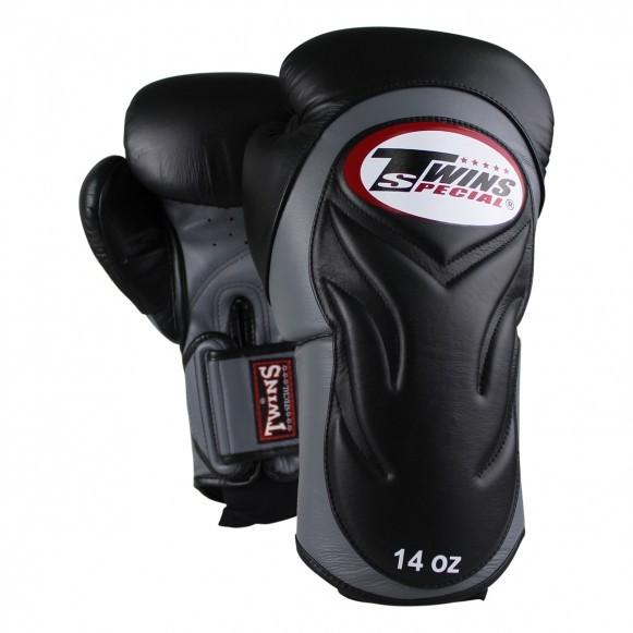 Twins BGVL 6 Boxhandschuhe Premium Schwarz Grau