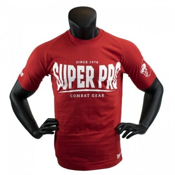 Super Pro T-Shirt S.P. Logo Rot/Weiß
