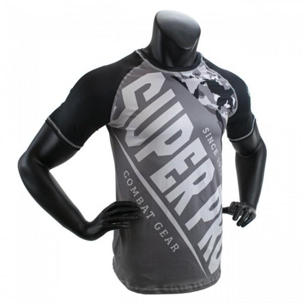 Super Pro Combat Gear T-Shirt Sublimation Camo Schwarz/Grau/Weiß