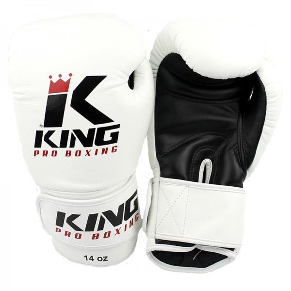 King Pro Boxing BoxhandschuheKPB BG 2 Leder Weiß
