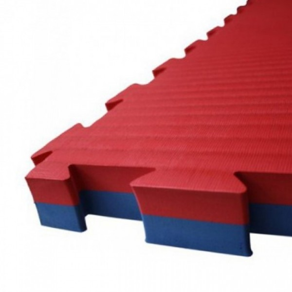 Puzzelmatte 100 x 100 x 2,5 cm Rot/Blau