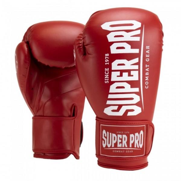 Super Pro Combat Gear Champ (Kick-)Boxhandschuhe Rot/Weiß