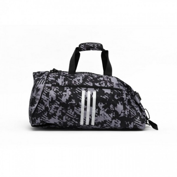 Adidas 2in1 Sporttasche Combat Sports Schwarz/Camo Silver M