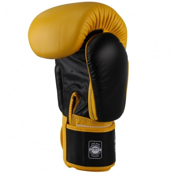 Twins Boxhandschuhe BGVL 3 Leder Gelb Schwarz