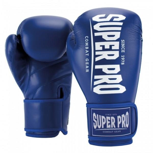 Super Pro Combat Gear Champ (Kick-)Boxhandschuhe Blau/Weiß