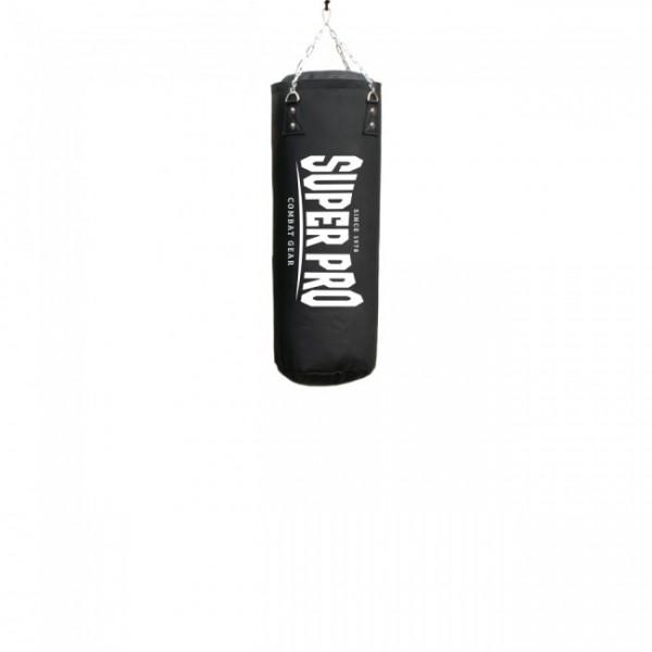 Super Pro Combat Gear Luxury Boxsack PU Vertical Logo Schwarz