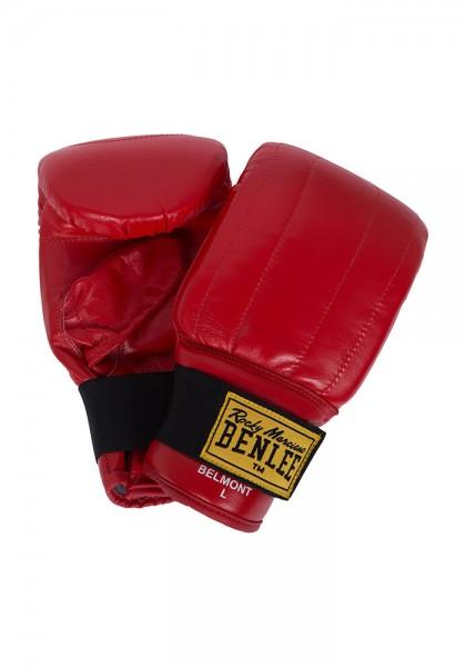 Benlee Belmont Sandsackhandschuhe aus Leder Rot