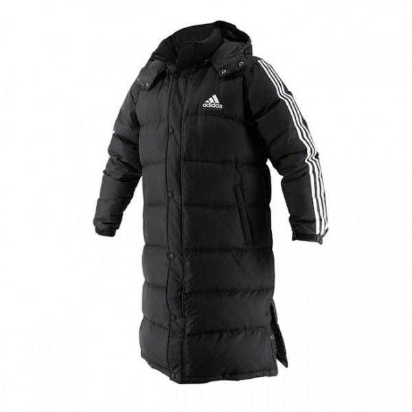 Adidas Long Parka Schwarz/Weiß
