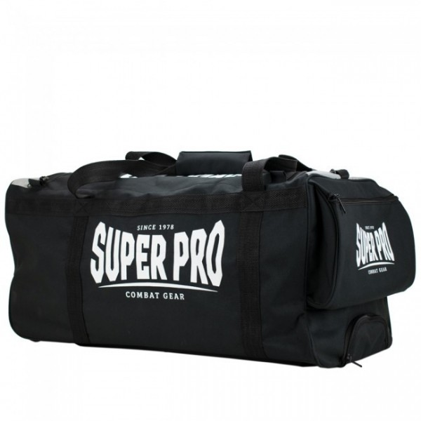 Super Pro Sporttasche Combat Gear Trolley Bag Schwarz