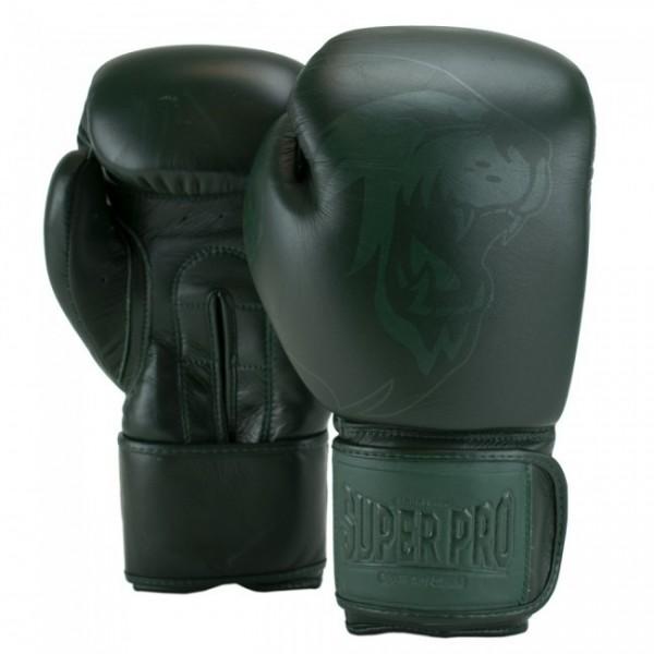 Super Pro Combat Gear Legend SE Leder Boxhandschuhe Grün