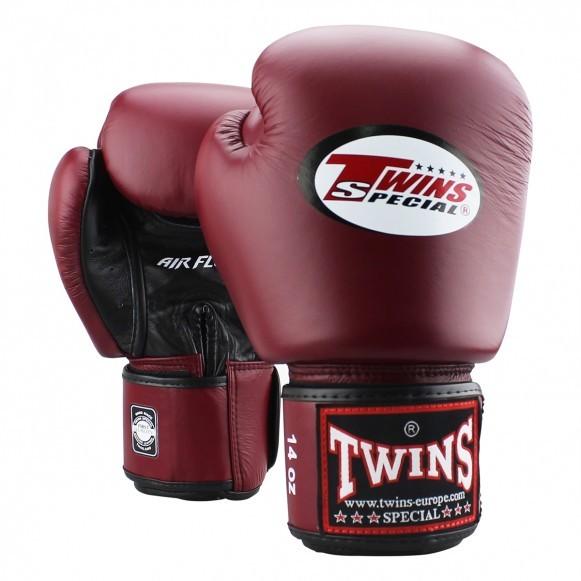 Twins Boxhandschuhe BGVL 3 Air Leder Weinrot