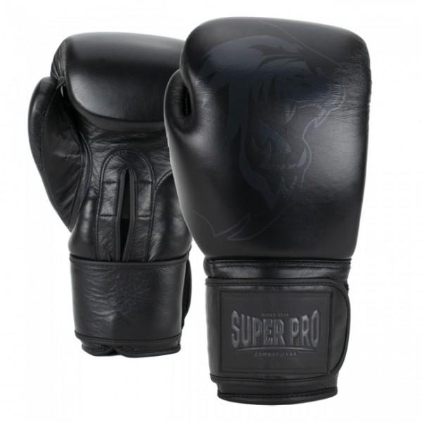 Super Pro Combat Gear Legend Leder Boxhandschuhe Schwarz