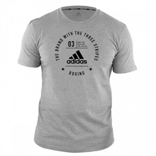 Adidas Community T-Shirt Boxing Grau/Schwarz