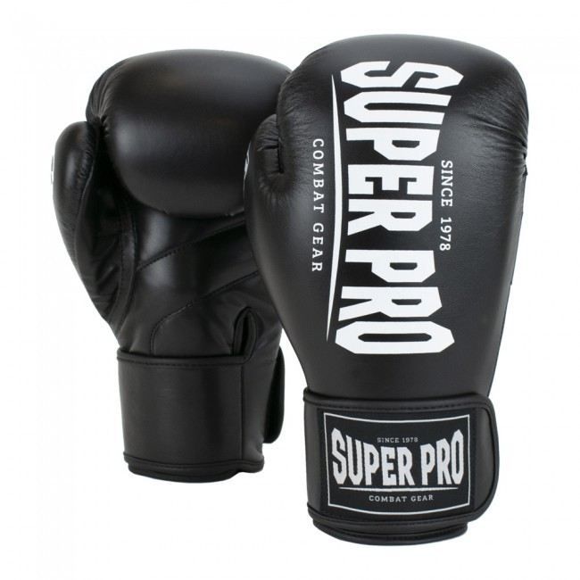 Super Pro Combat Gear Champ Boxhandschuhe Schwarz/Weiß
