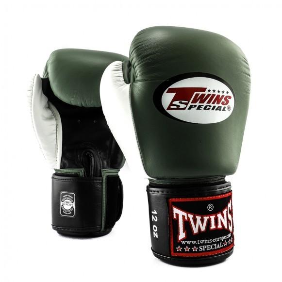 Twins BGVL 4 Boxhandschuhe Schwarz Olive Weiß