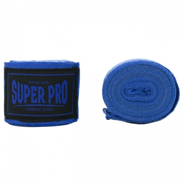Super Pro Boxbandage Combat Gear Bandagen Blau