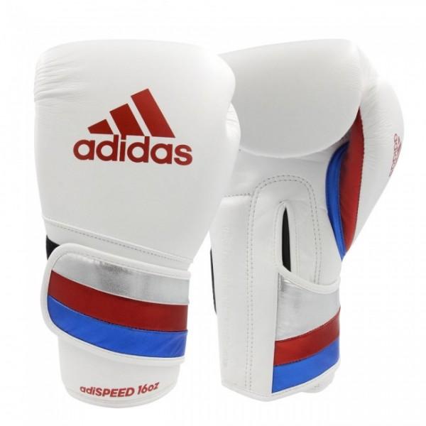 Adidas Boxhandschuhe adiSPEED strap up Weiß/Rot/Blau