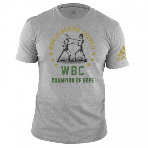 Adidas WBC T-Shirt Champ of Hope-Grau