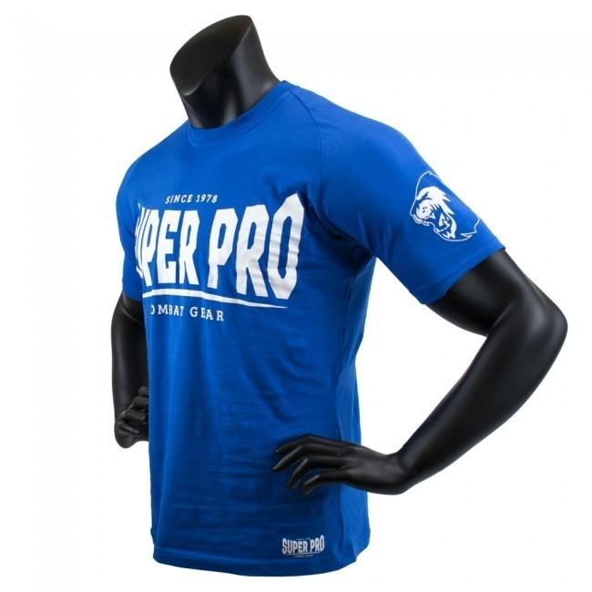 Super Pro T-Shirt S.P. Logo Blau/Weiß