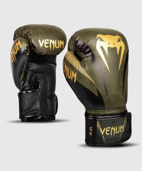 Venum Impact Boxhandschuhe - Khaki/Gold