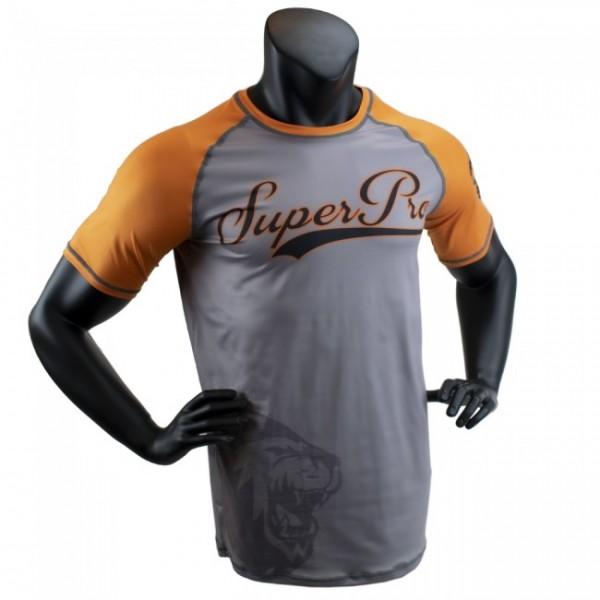 Super Pro Combat Gear T-Shirt Sublimation Challenger Grau/Orange/Schwarz