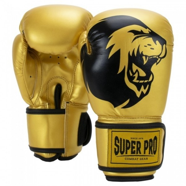 Super Pro Combat Gear Talent Kinder Boxhandschuhe Gold/Schwarz