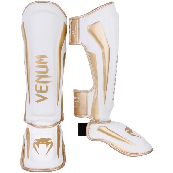 Venum Elite Standup Schienbeinschützer - Weiß/Gold