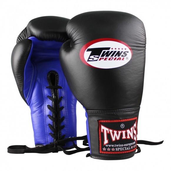 Twins Boxhandschuhe BGLL 1 Leder Blau Schwarz